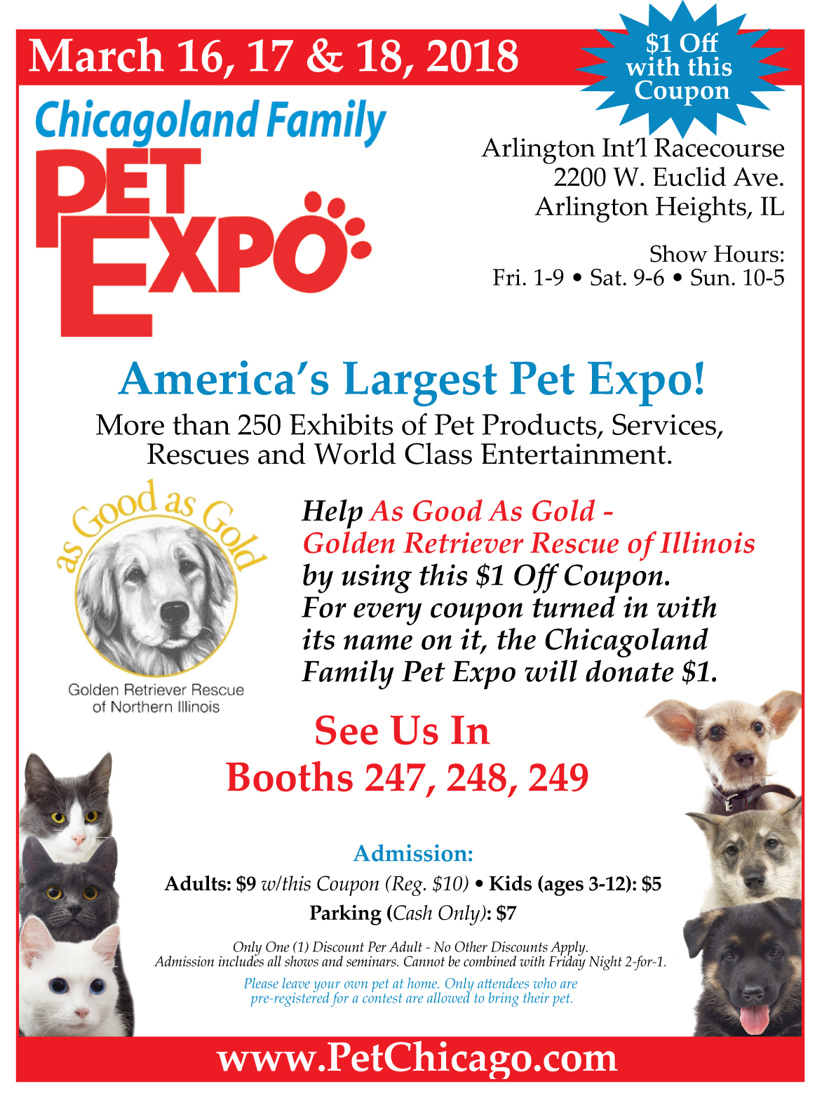 Discount Coupon for Chicagoland Family Pet Expo 2018
