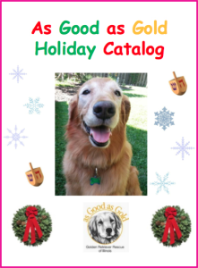 As Good as Gold Golden Retriever Rescue Holiday Shopping Catalog