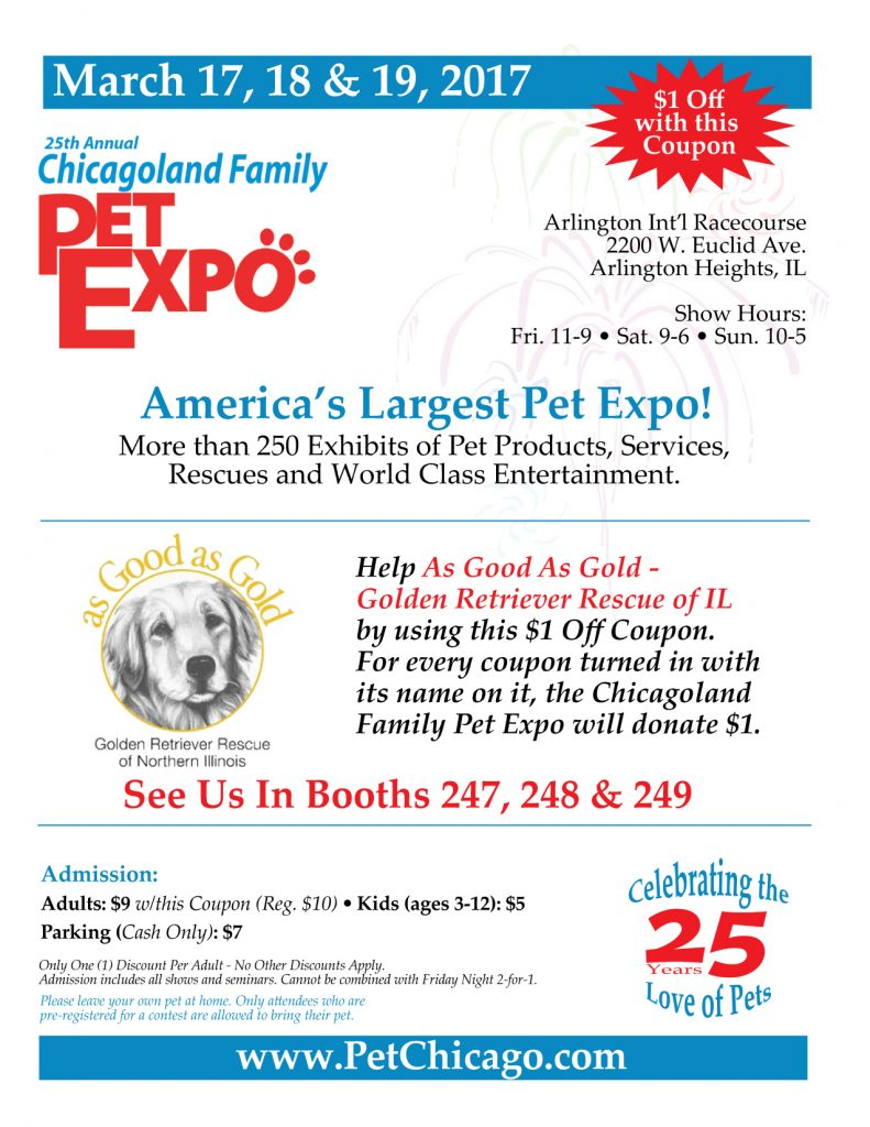 Chicagoland Family Pet Expo 2017 Coupon
